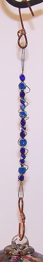 Beaded Hanger Cobalt