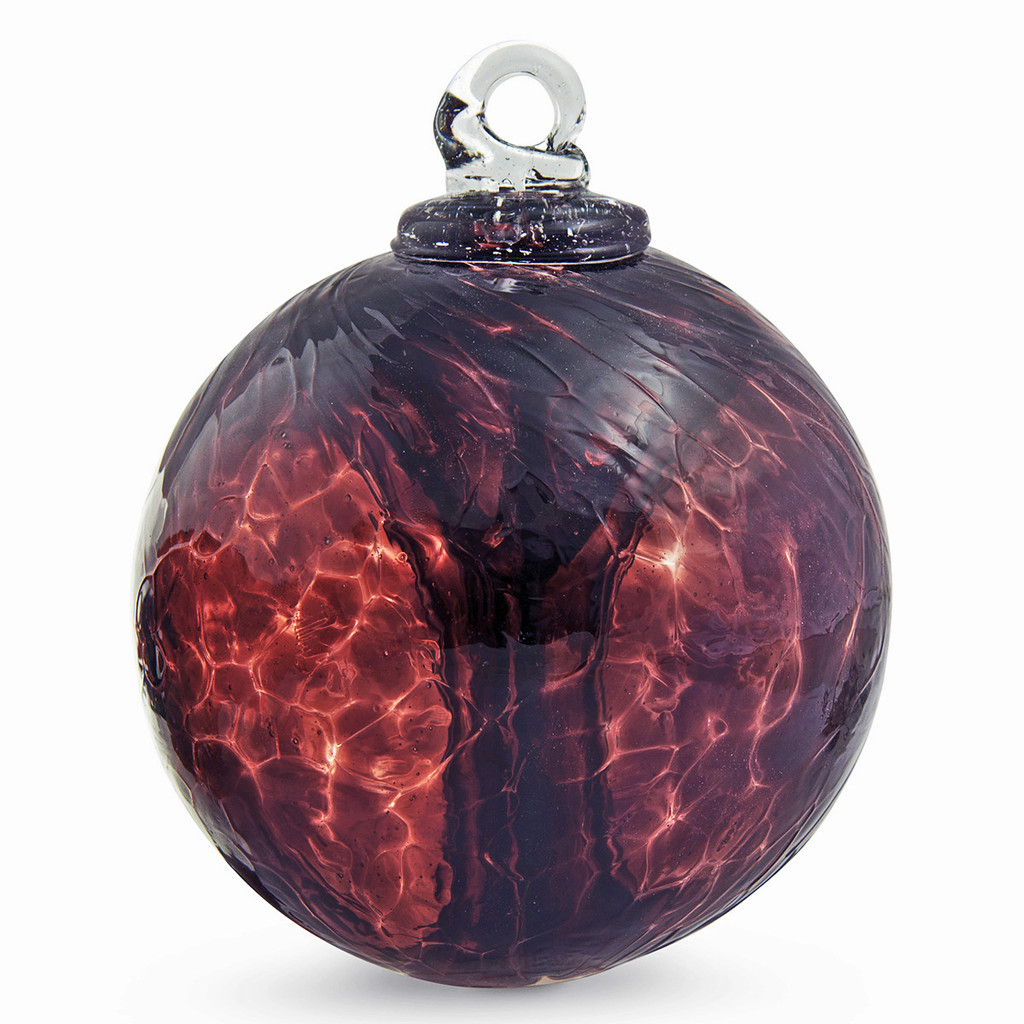 """Small Witch Ball """"Aubergine"""""""