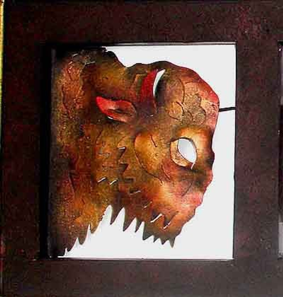 Buffalo Head Framed