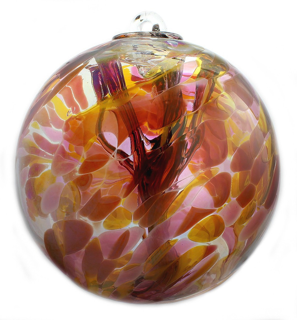 """XL Witch Ball """"Marigold"""" (Iridized)"""