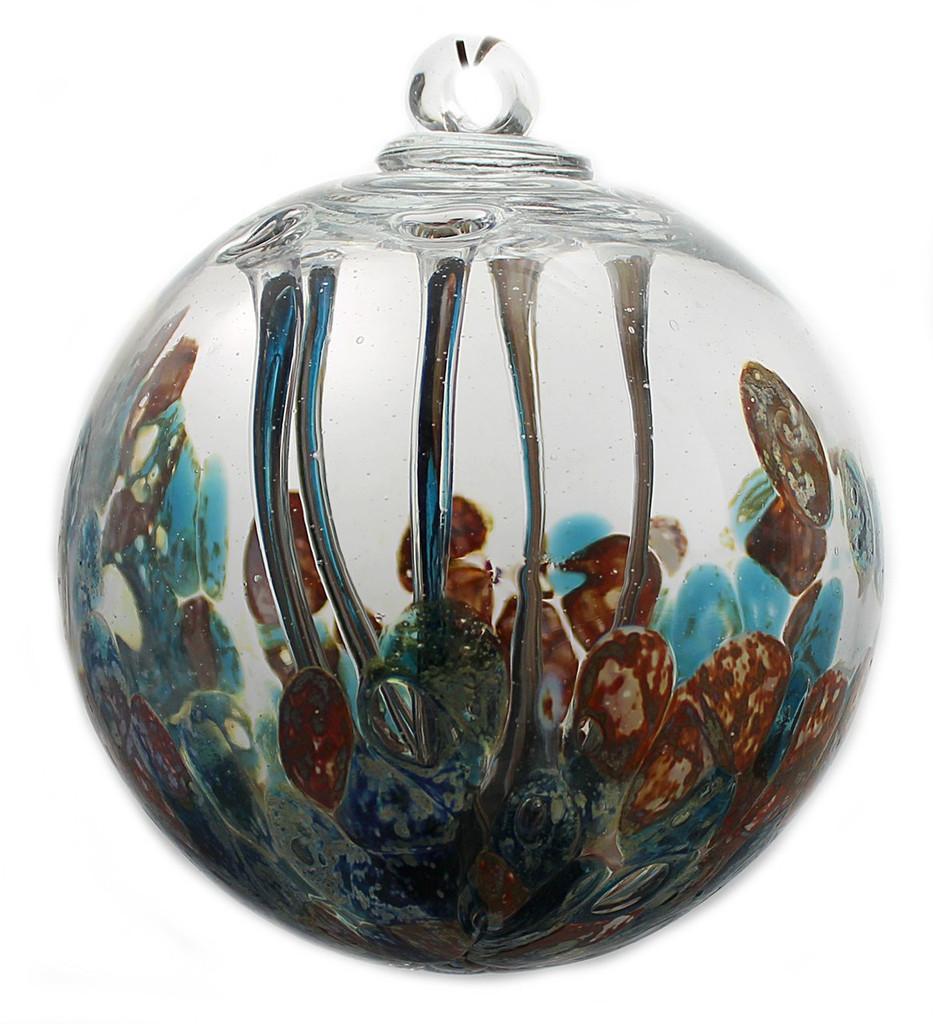 Medusa Spirit Ball Silver Nitrate Sea Green / Burnt Orange