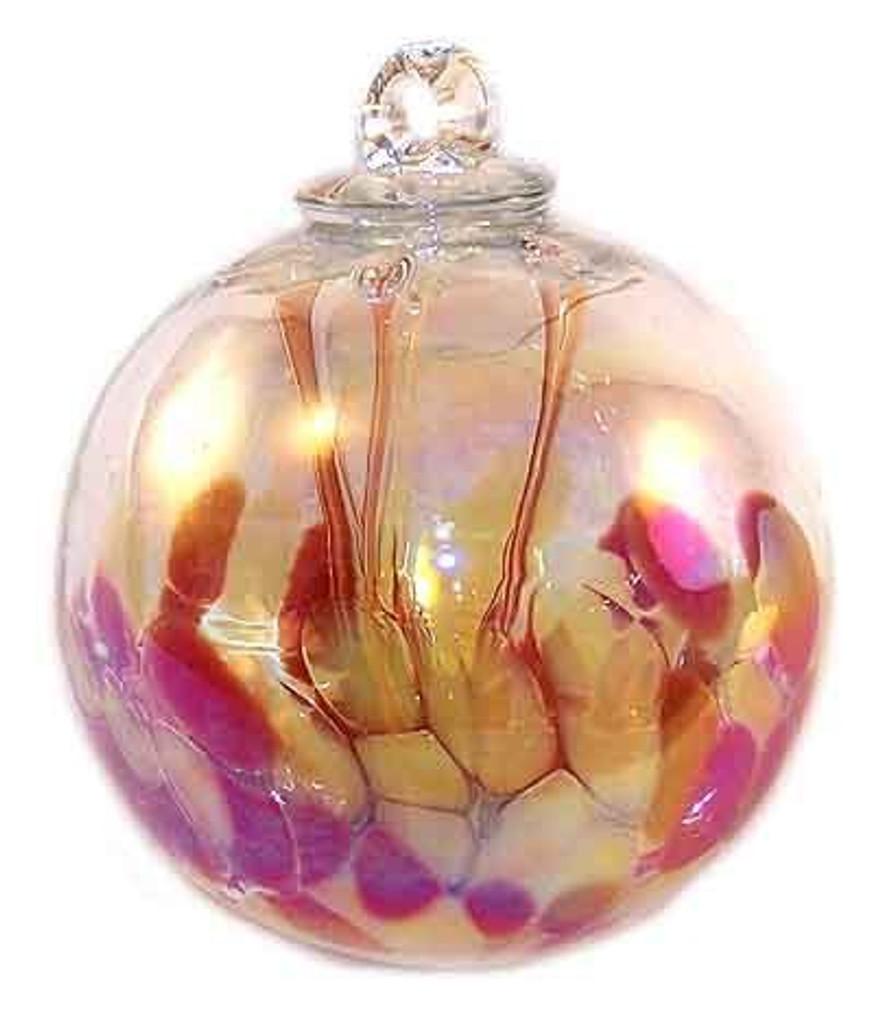Medusa Spirit Ball, Garnet Red & Curry