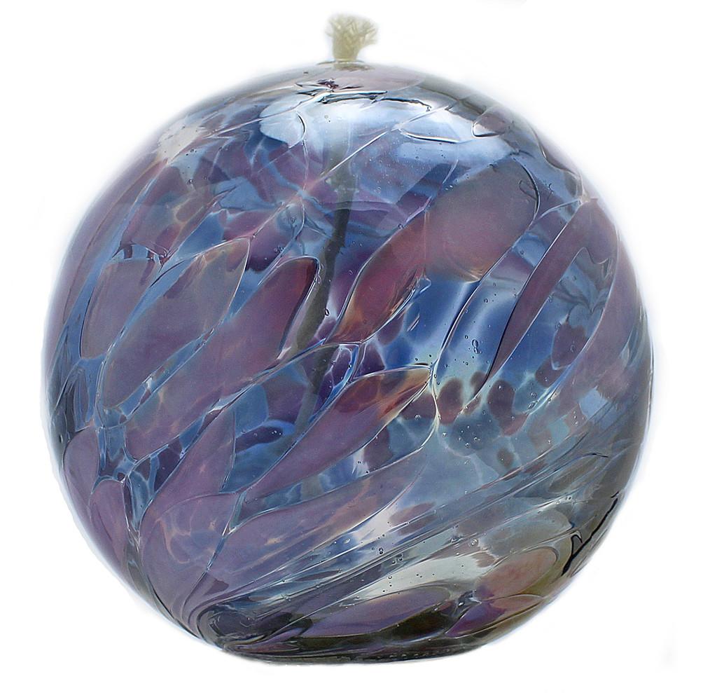 "Kugel Oil Lamp ""Blue Bells"""