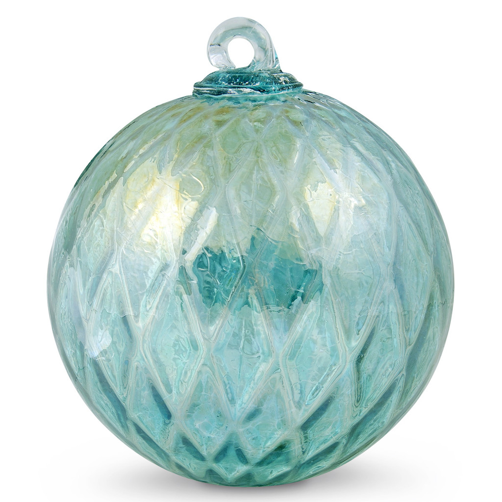 Diamond Optic Friendship Ball, Emerald Green Iridized (6 inch)