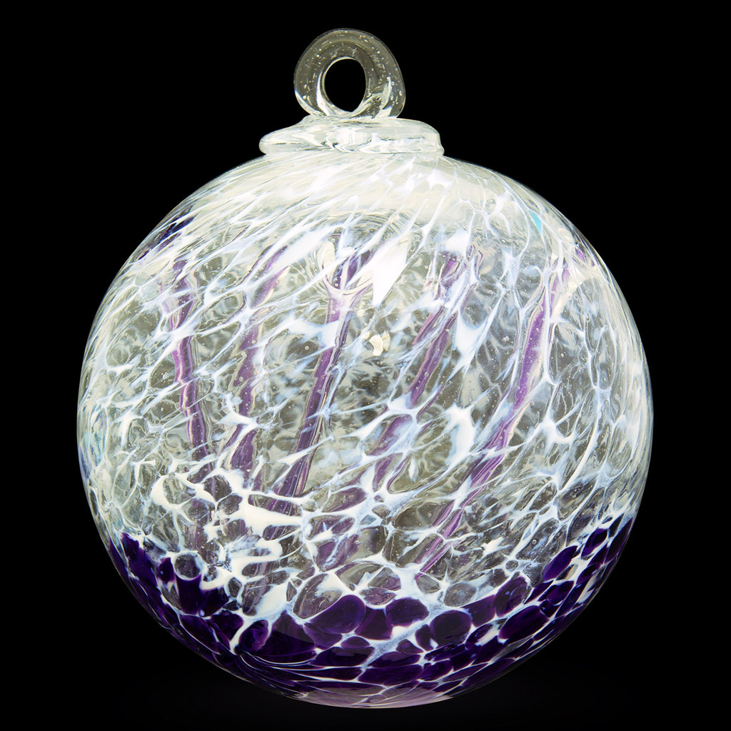 "Veiled Witch Ball ""Violet Blue"""