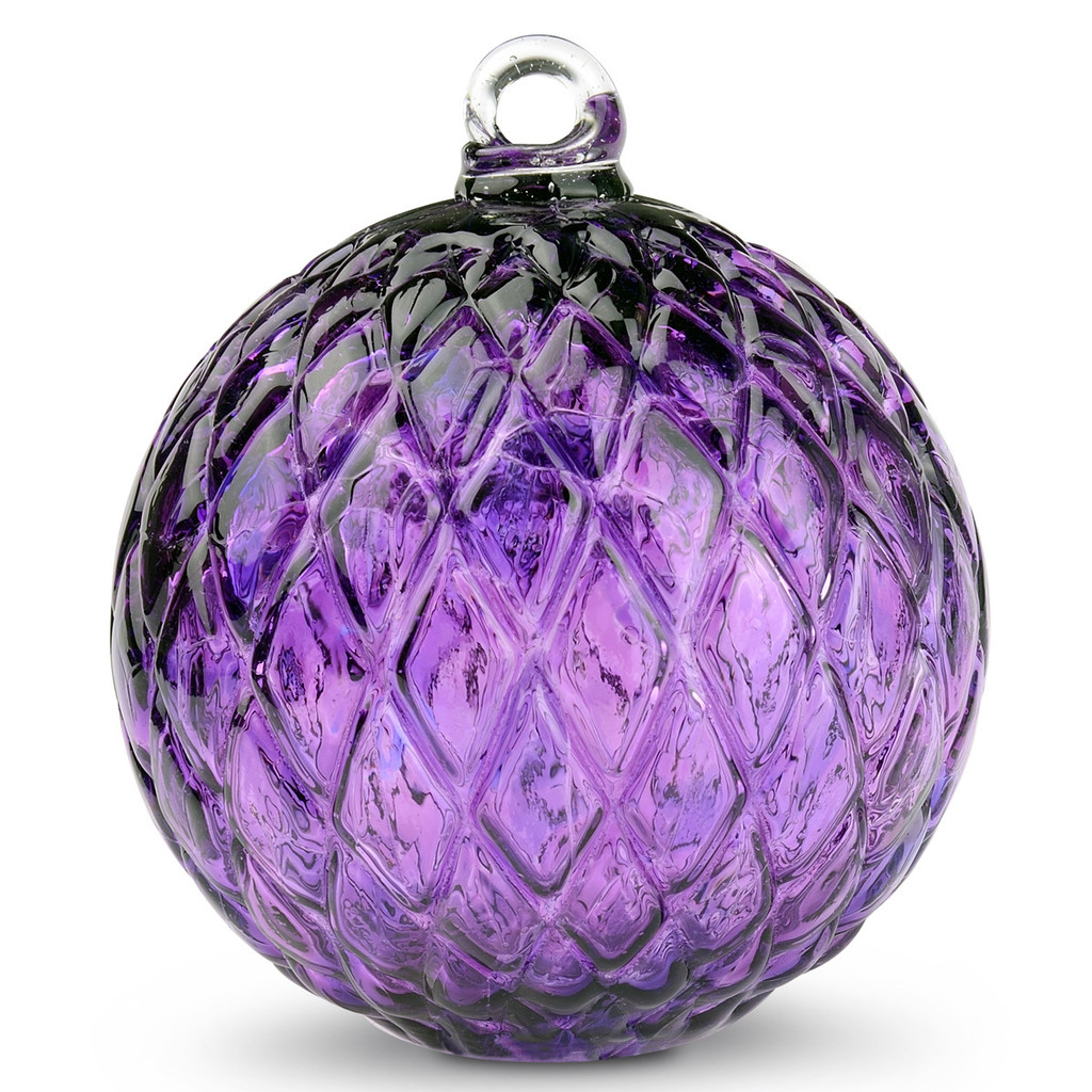 Diamond Optic Friendship Ball, Hyacinth (4 inch)