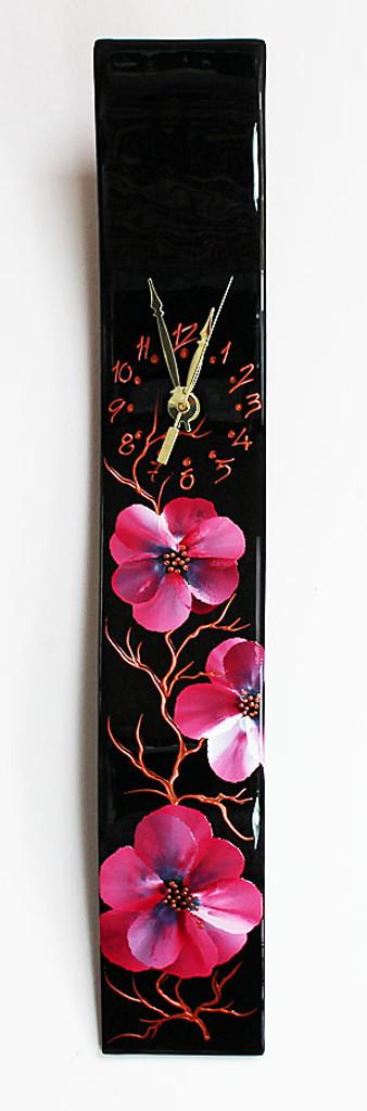 """Arciform Billet Clock """"Blossoms Black"""""""
