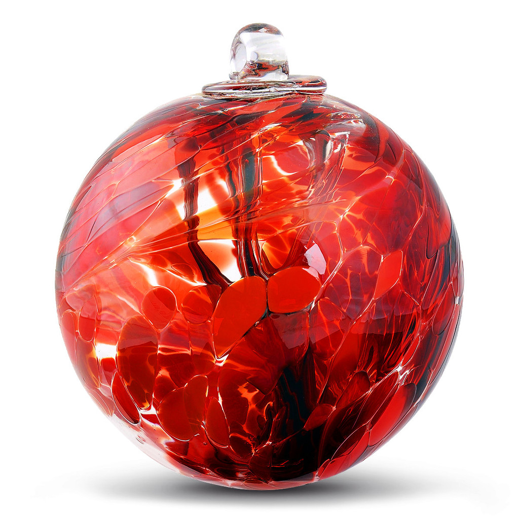 """Witch Ball """"Confident Red"""""""