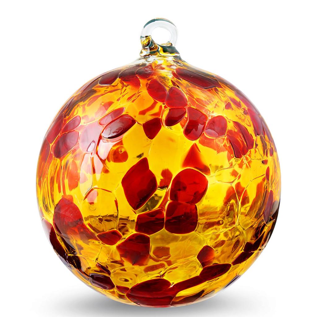 Garnet Red & Gold Topaz 4 Inch Kugel Quality Seconds