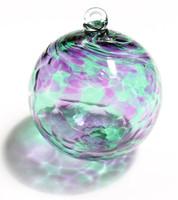 Purple / Green Kugel  4 Inch