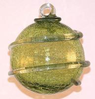 Transparent Lime Orbit Crackle