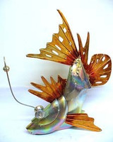 Galvanized 3D Angler Fish