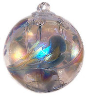 "Small Witch Ball ""Winter""  Iridized"