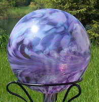 Garden Gazing Ball Lavender Lilly