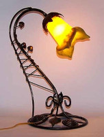 Art Deco Rose Bud Desk Lamp