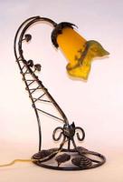 Art Deco Rose Bud Desk Lamp