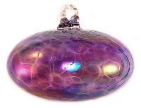 Mini Orb Violet Blue Iridized