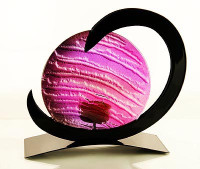 Neutron Tealight Candle Holder  (Purple)