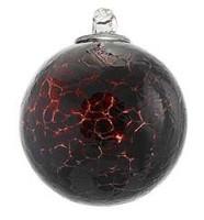 Dark Garnet Red Crackle