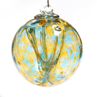Small Witch Ball Turquoise and Old Gold