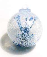 "Veiled Witch Ball ""Iris Blue"""