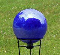 Cobalt Blue Over Opal Gazing Ball Iridized Factory 2ND