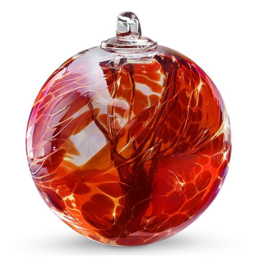 Witch Ball Iridescent Garnet Red