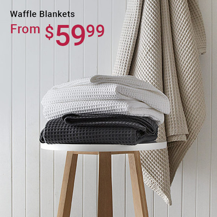 Waffle Blankets From $59.99
