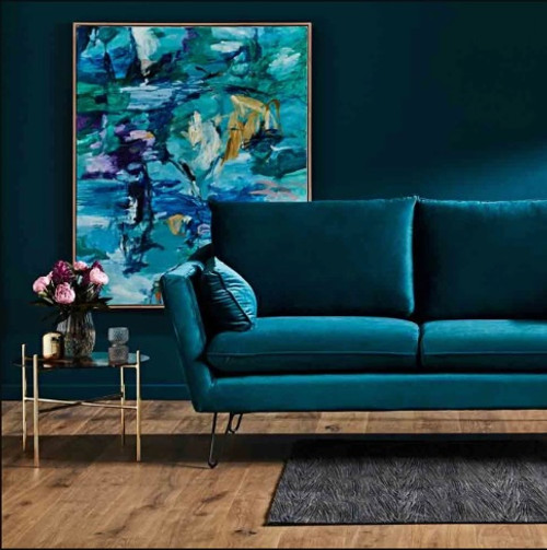 Terrific Velluto Velvet 2 5 Seater Sofa Gmtry Best Dining Table And Chair Ideas Images Gmtryco