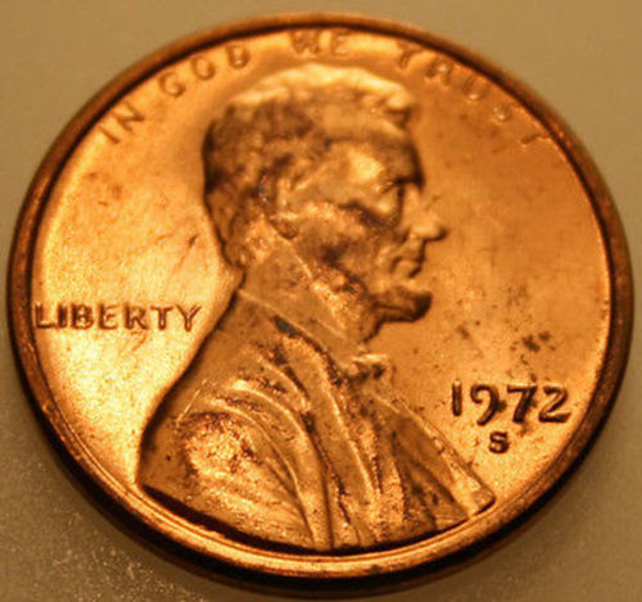1972-S Lincoln Memorial  Cent  BU  Red  Nice  US  Coin