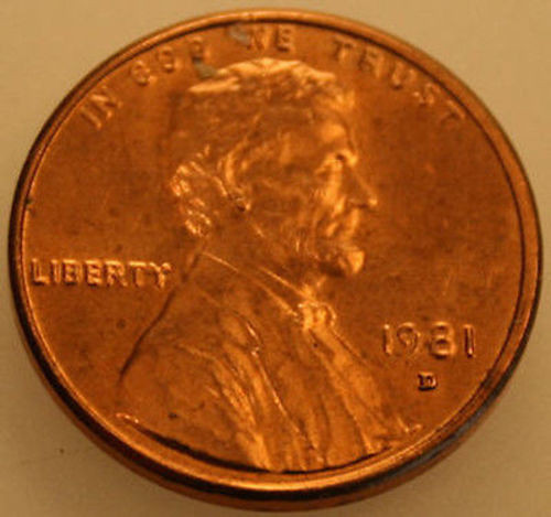 1981-D Lincoln Memorial Cent Uncirculated BU Red Penny