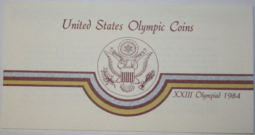 Supplies 1983-S Commemorative Olympic 90/% Silver Dollar Proof COA ONLY NO COINS