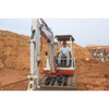CR700 Magnetically Mounted being used on Mini Excavator as a Machine Receiver