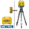 Spectra LL500-3 Laser Package includes LL500 Laser Transmitter, HL700 Receiver with Clamp C70, GR153 Grade Rod Metric (4,7 m), 2161 Tripod Heavy Duty Aluminum and Small Laser Carrying Case