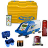 Spectra Precision DG711-7 Pipe Laser Kit comes with P20 Alkaline Battery Pack, 4 D-Cell Batteries, RC502 Remote Control, 956 Pipe Target with 2 Plates, 1238 (8-inch) Invert Plate