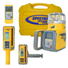 Spectra GL622-DR Laser Package includes RC602 Remote Control, DR400 Digirod, Laser Glasses, HL750 Receiver, Charger, NiMH Rechargeable Batteries, Carrying Case