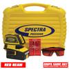 Spectra LT52 Laser Package comes with Laser Target, Laser Glasses and Hard Protective Case