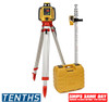Topcon RL-H5A Self-Leveling Laser PS.DB Kit with LS-80L Receiver,  Alkaline Batteries, Measuring Rod 10ths and Tripod - 1021200-07-K1