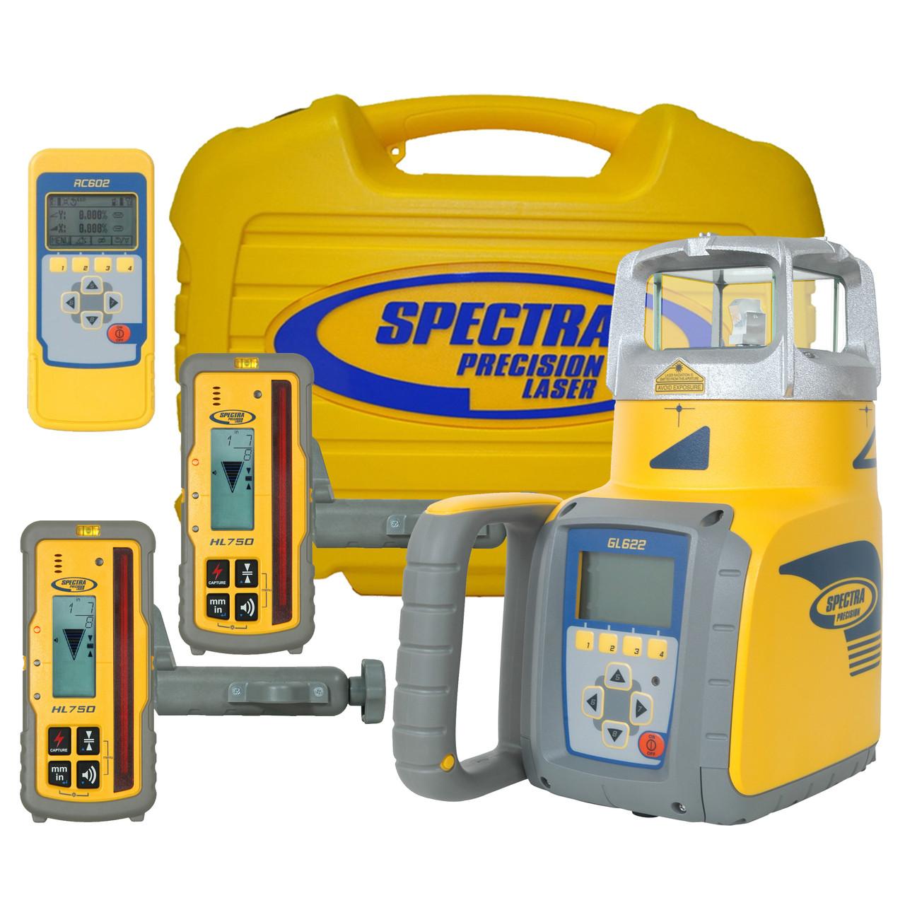 Spectra GL622 Dual grade laser HL750 Receiver RC602 Remote CR600 Receiver