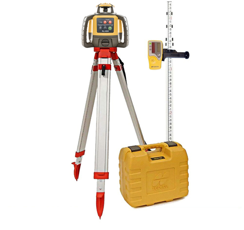 Topcon RL-H5A Self-Leveling Laser PS.DB2 Kit with LS-80L Receiver,  Alkaline Batteries, Measuring Rod INCHES and Tripod - 1021200-15-K2