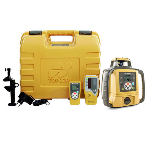 Topcon RL-SV1S Self-Leveling Single Grade Laser DB Kit with LS-80L Receiver and Alkaline Batteries- 313990759