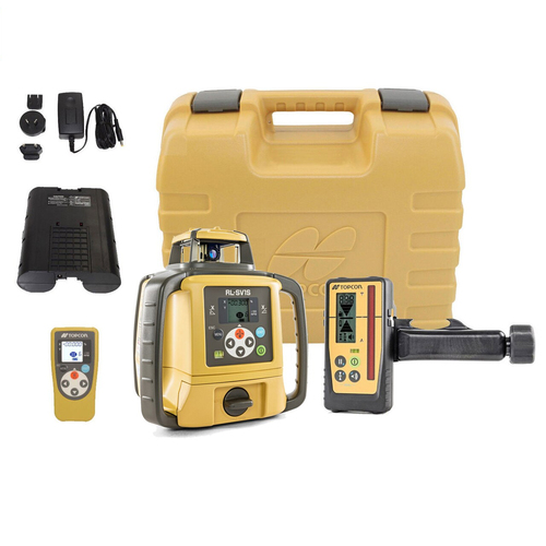 Topcon RL-SV1S Self-Leveling Single Grade Laser RB Kit with LS-100D Deluxe Receiver and Rechargeable Batteries 313990779