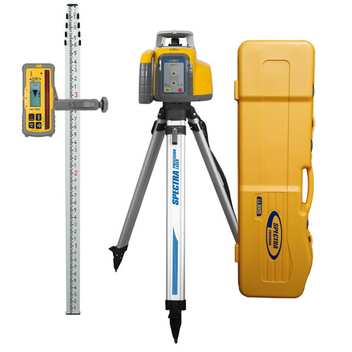 Spectra Precision LL300S-17 Laser Complete Package w/ HL760 Receiver, Tripod and Rod in Tenths