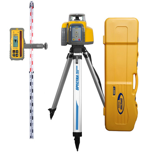 Spectra Precision LL300S-37 Laser Complete Package w/ HL760 Receiver, Tripod and Metric Rod