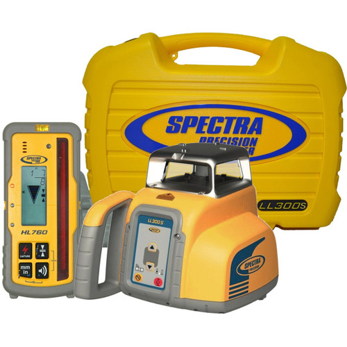 Spectra Precision LL300S-7 Laser level Package w/ HL760 Receiver