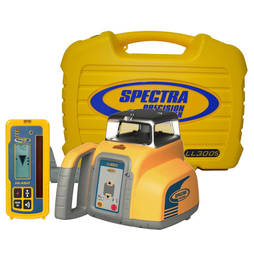 Spectra Precision LL300S-4 Laser level Package with HL450 Receiver - Rechargeable Batteries
