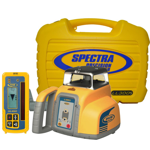 Spectra Precision Laser LL300S Laser level Package with HL450 Receiver - Alkaline Batteries