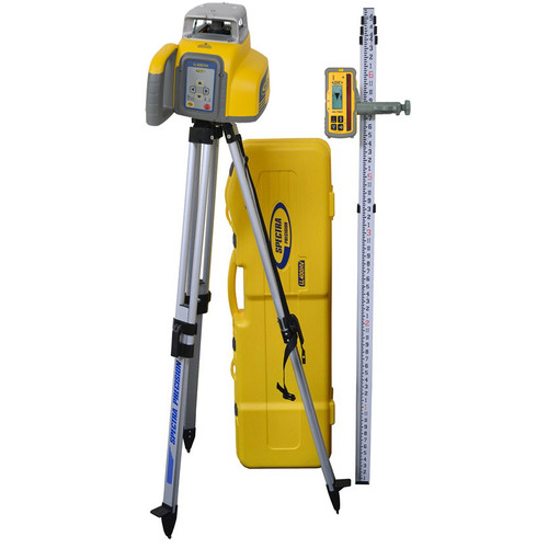 LL400HV-2 Package includes LL400HV Laser, HL760 Laserometer Recever, C70 Clamp, GR152 Grade Rod, Aluminum Tripod and All in One System Carrying Case