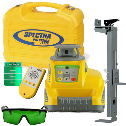 Spectra Precision HV301G Rugged Green Beam Laser System for Interior Construction