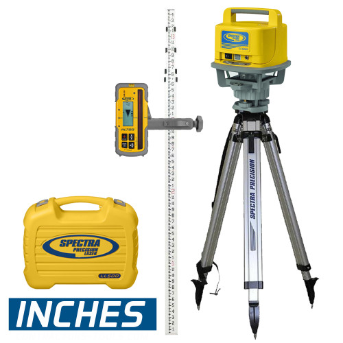 Spectra Precision LL500-2 Long Range Laser Complete Package w/ HL700 - INCHES